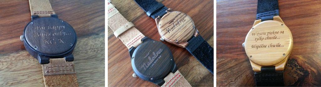 WoodWorld - drewniany zegarek z grawerem